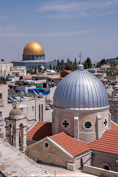 Domes and roofs of Jerusalem - foto de stock