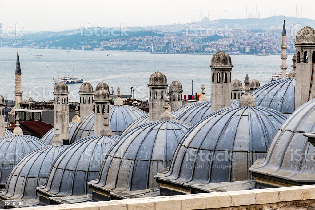 Domes in Istanbul stock photo