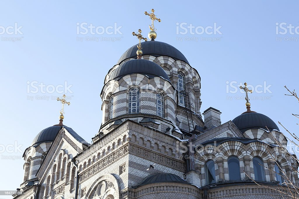 Domes of convent royalty-free stock photo