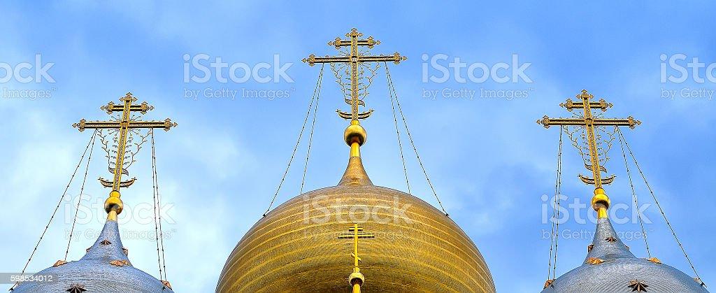 Cloches de l'Église orthodoxe russe photo libre de droits