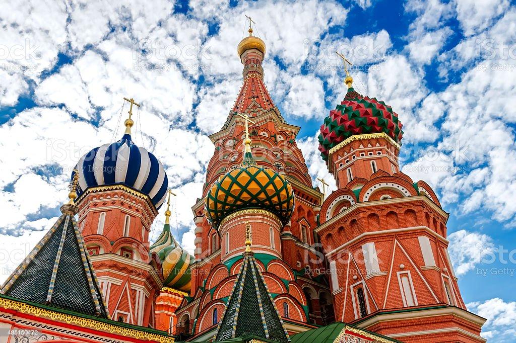 Привлекательные Василия Блаженного на Красной Площади в Москве. стоковое фото