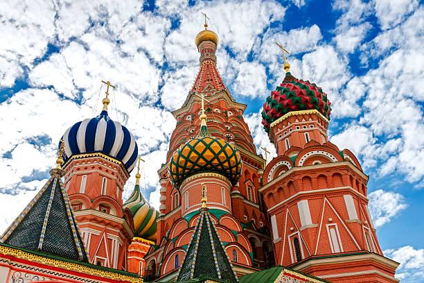 Cтоковое фото Привлекательные Василия Блаженного на Красной Площади в Москве.