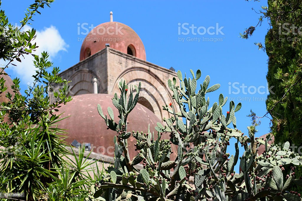 Domes of St. John of the Hermits stock photo