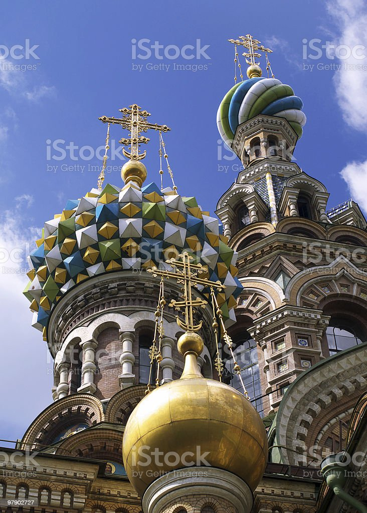 Domes of temple royalty-free stock photo