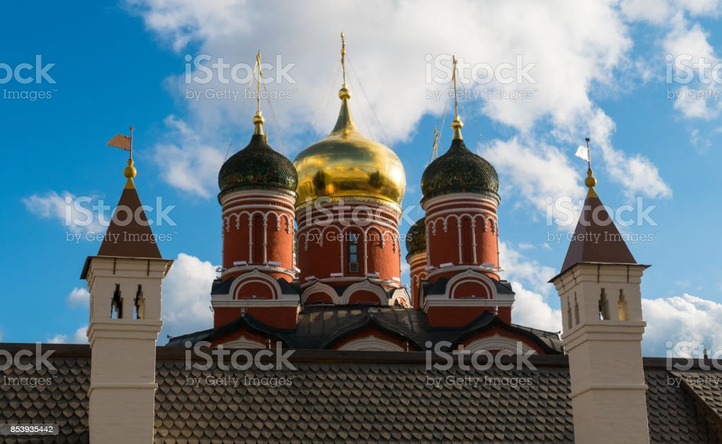 Domes of the Christian church stock photo
