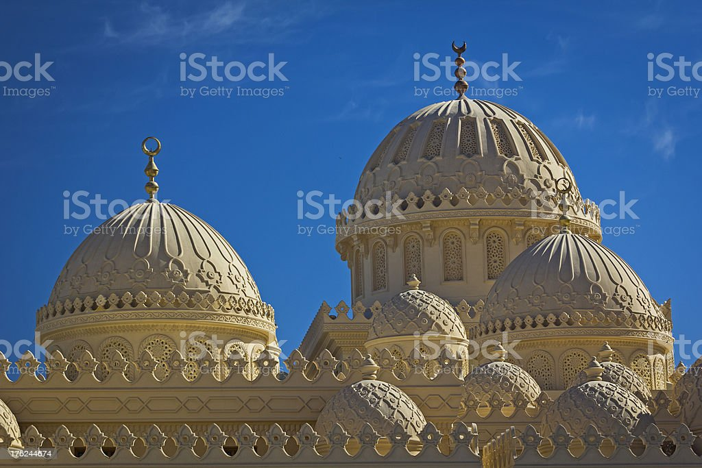 Domes of the mosque royalty-free stock photo