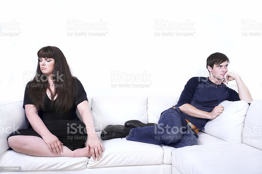 Domestic argument royalty-free stock photo