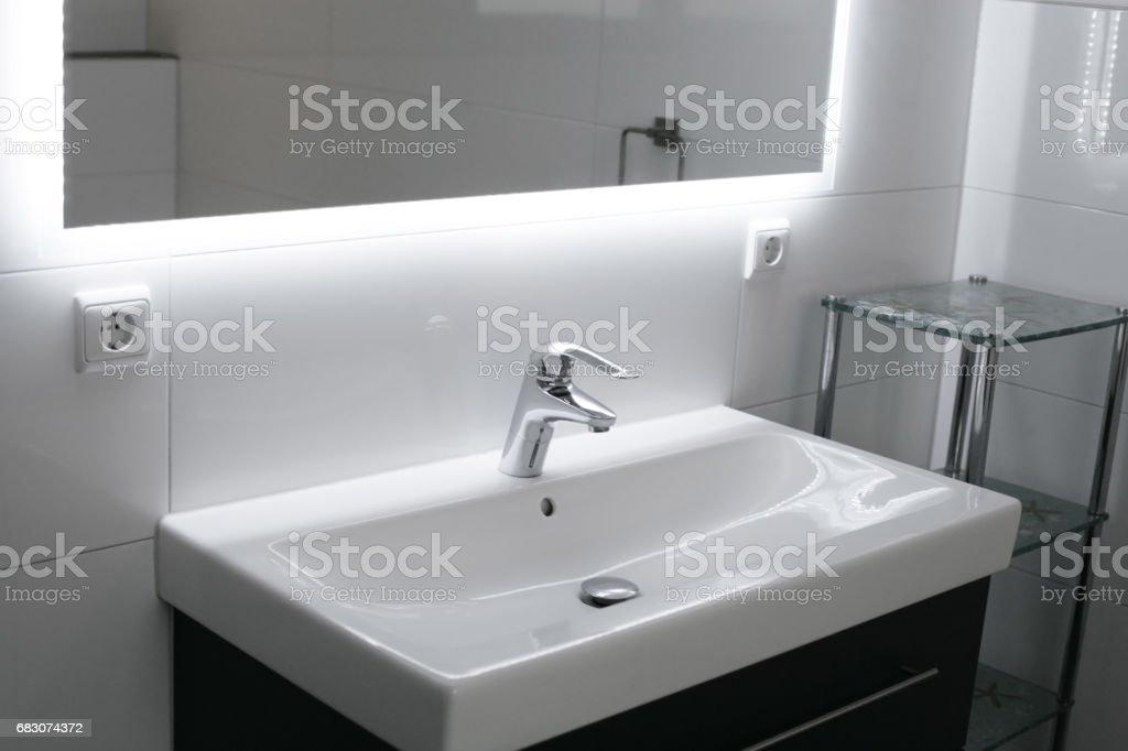 Domestic bathroom foto de stock royalty-free