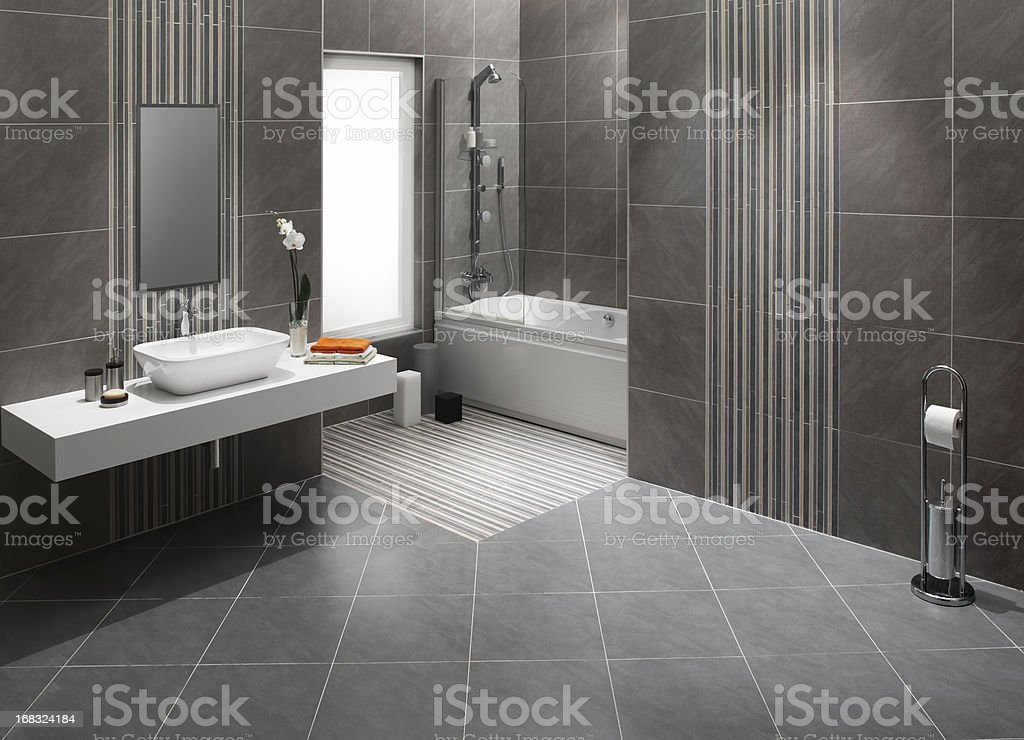 Domestic bathrooms stock photo