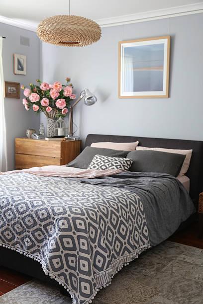 Domestic Bedroom stock photo