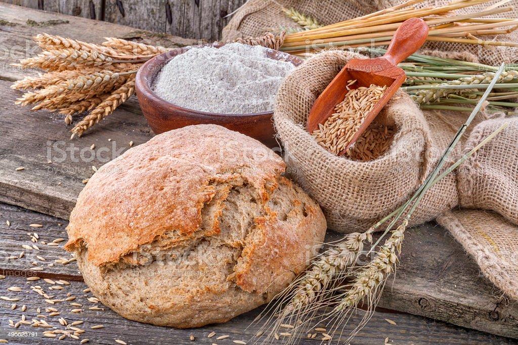 Domestic  bread stock photo