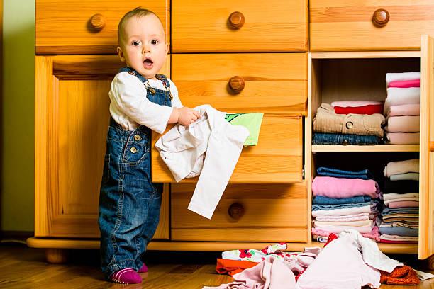 Domestic Hausarbeit-Decken-out-Kleidung für Babys – Foto
