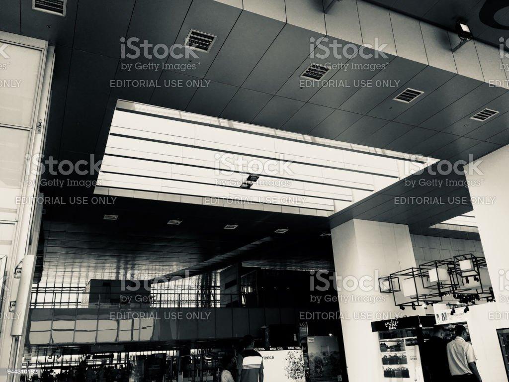 Domestic Departure Hall at Netaji Subhash Chandra Bose International Airport, Kolkata India on 4th April 2018 stock photo