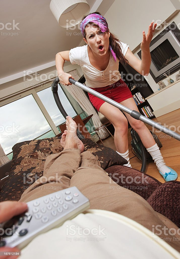 Domestic fight royalty-free stock photo