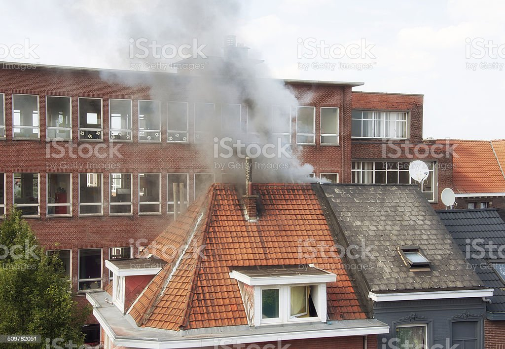 Domestic Fire stock photo