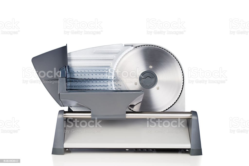 Domestic food slicer front view isolated on white background – Foto