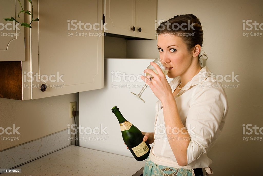 Domestic goddess royalty-free stock photo