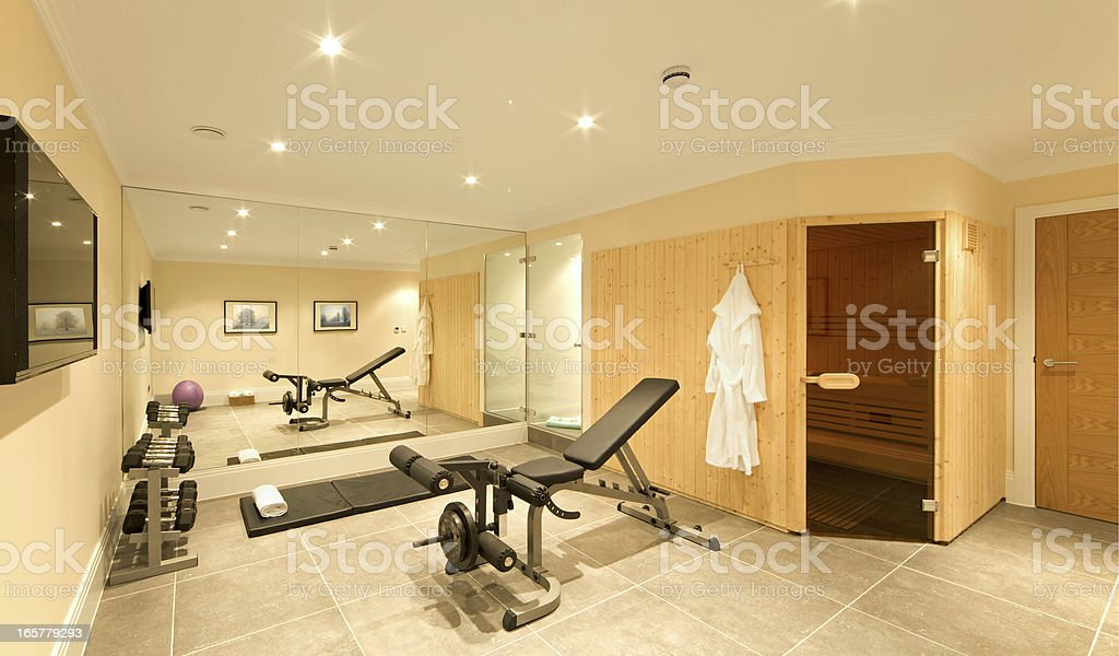domestic gym stock photo