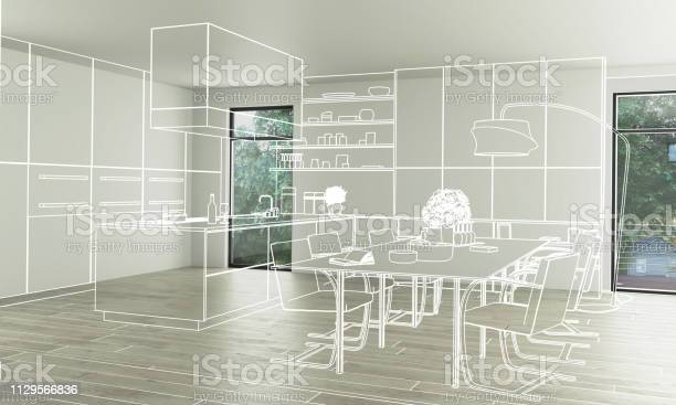 Domestic kitchen design 3d illustration picture id1129566836?b=1&k=6&m=1129566836&s=612x612&h=4j7p5sepowhvyray d9zdsyflevotnfihnpr dsfrne=