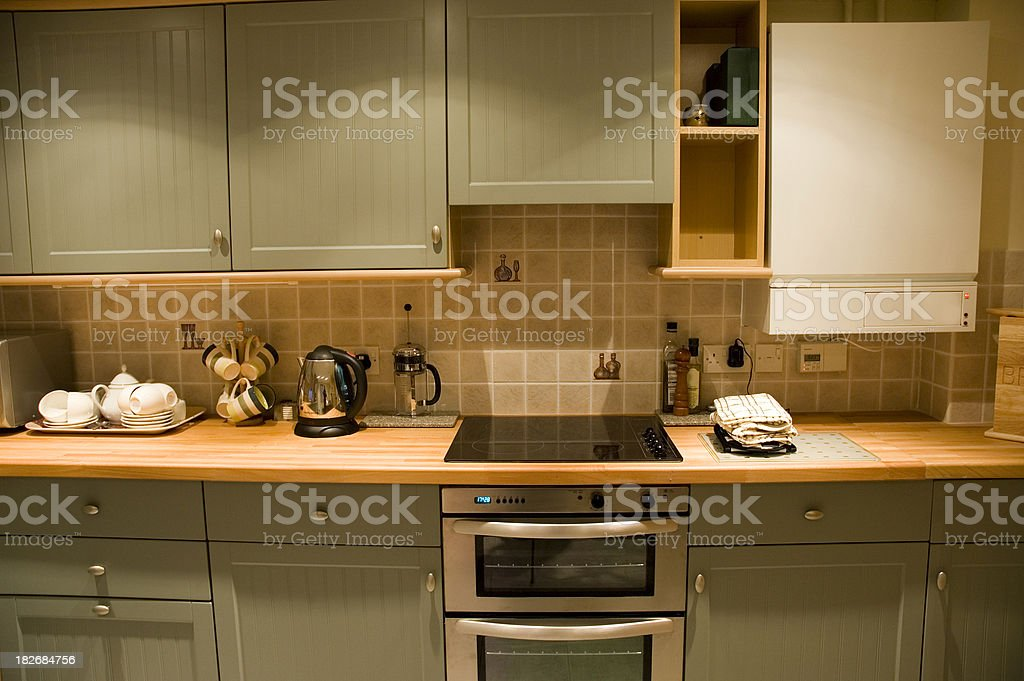 Domestic kitchen royalty-free stock photo