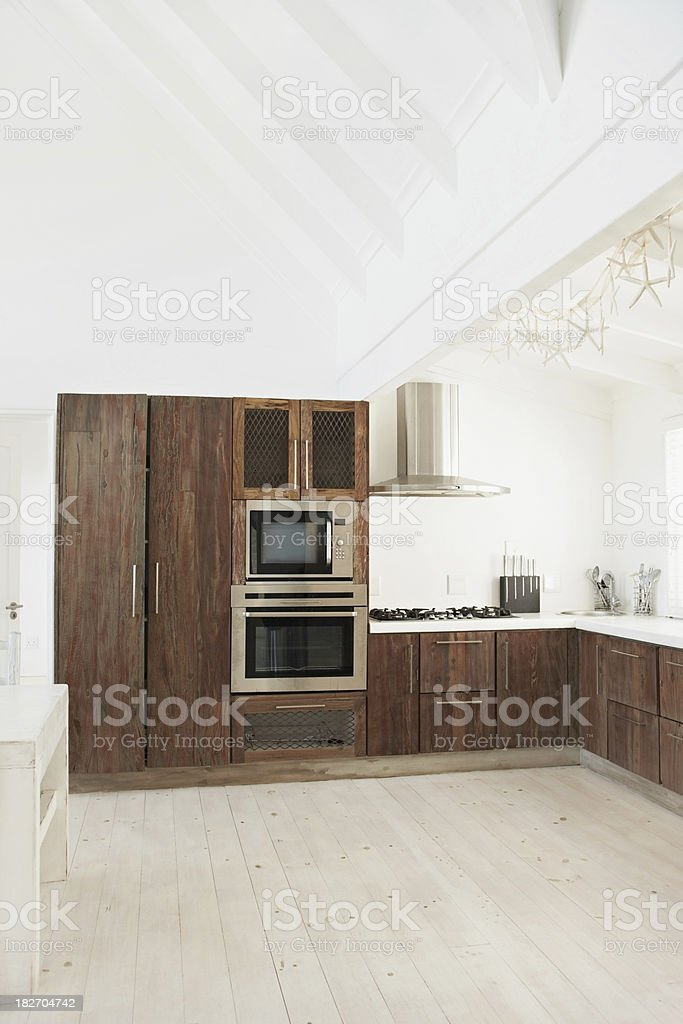 Domestic kitchen with modern equipments royalty-free stock photo