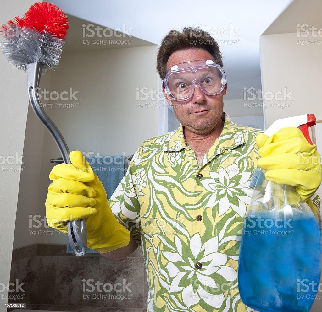 Domestic man stock photo