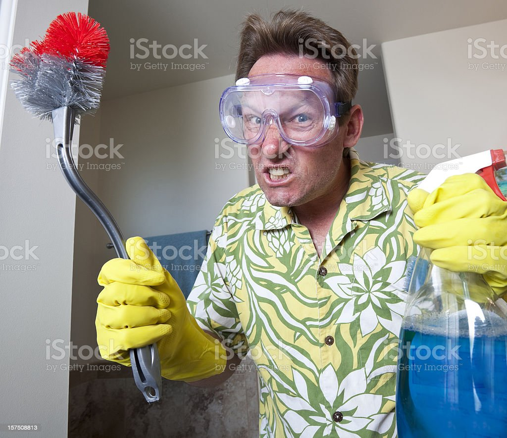Domestic man royalty-free stock photo
