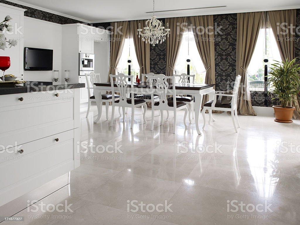 Domestic modern kitchen stock photo
