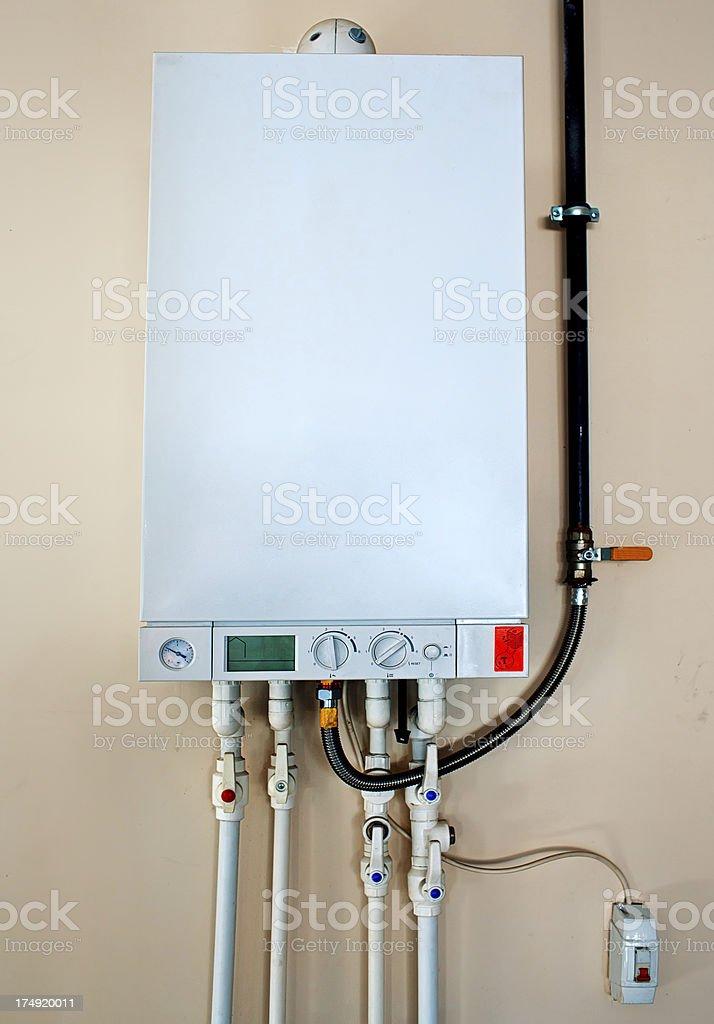 Domestic Natural Gas Boiler stock photo