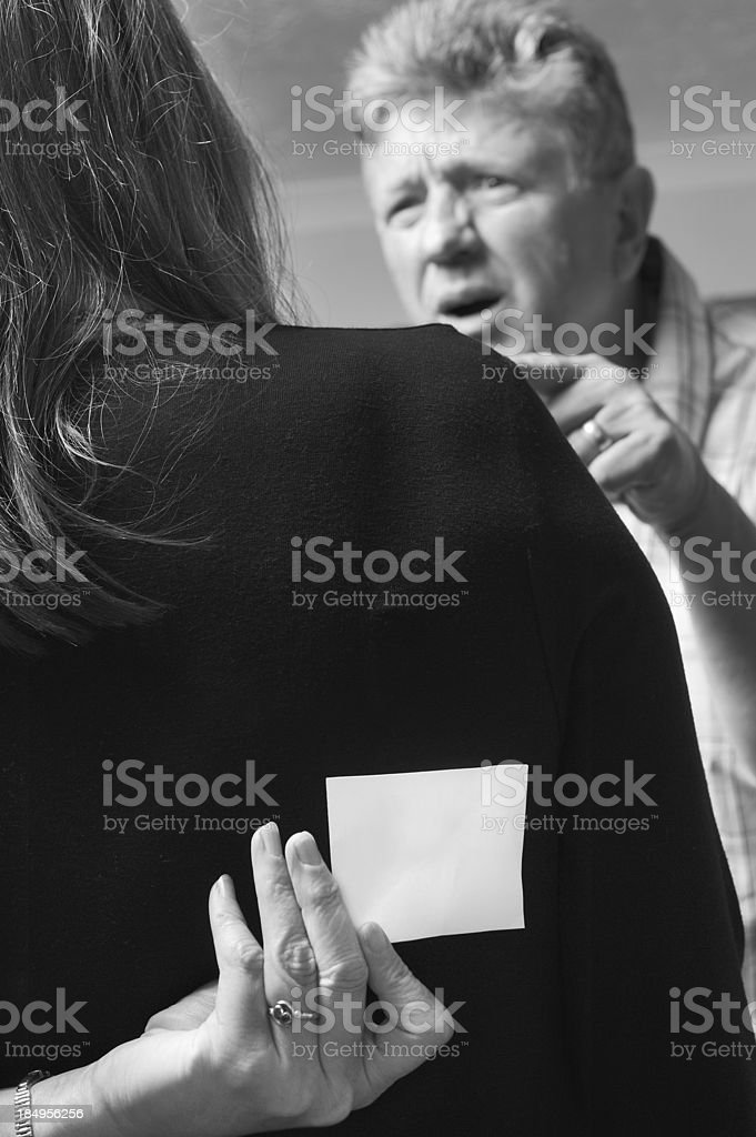 Domestic or workplace abuse royalty-free stock photo