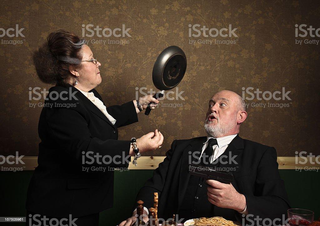 Domestic quarrel stock photo