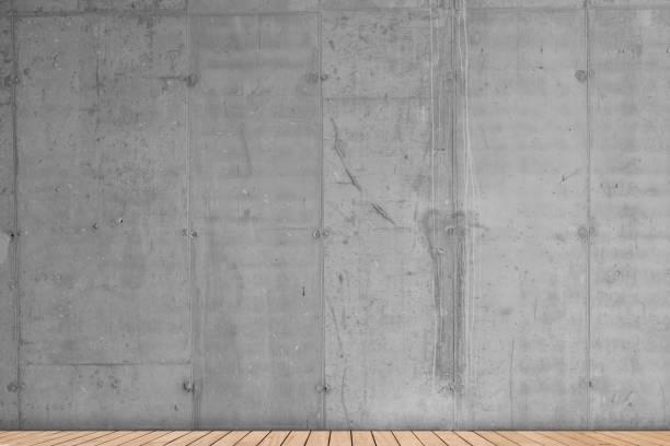 국내 방 콘크리트 벽 나무 바닥 - 콘크리트 벽 뉴스 사진 이미지