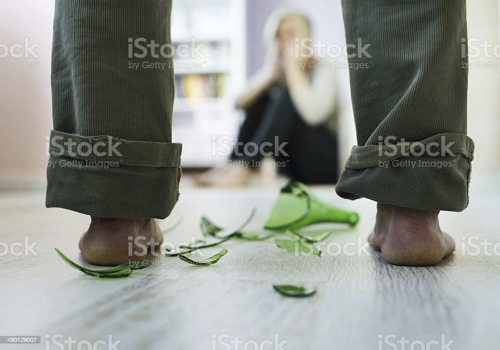 Domestic violance stock photo