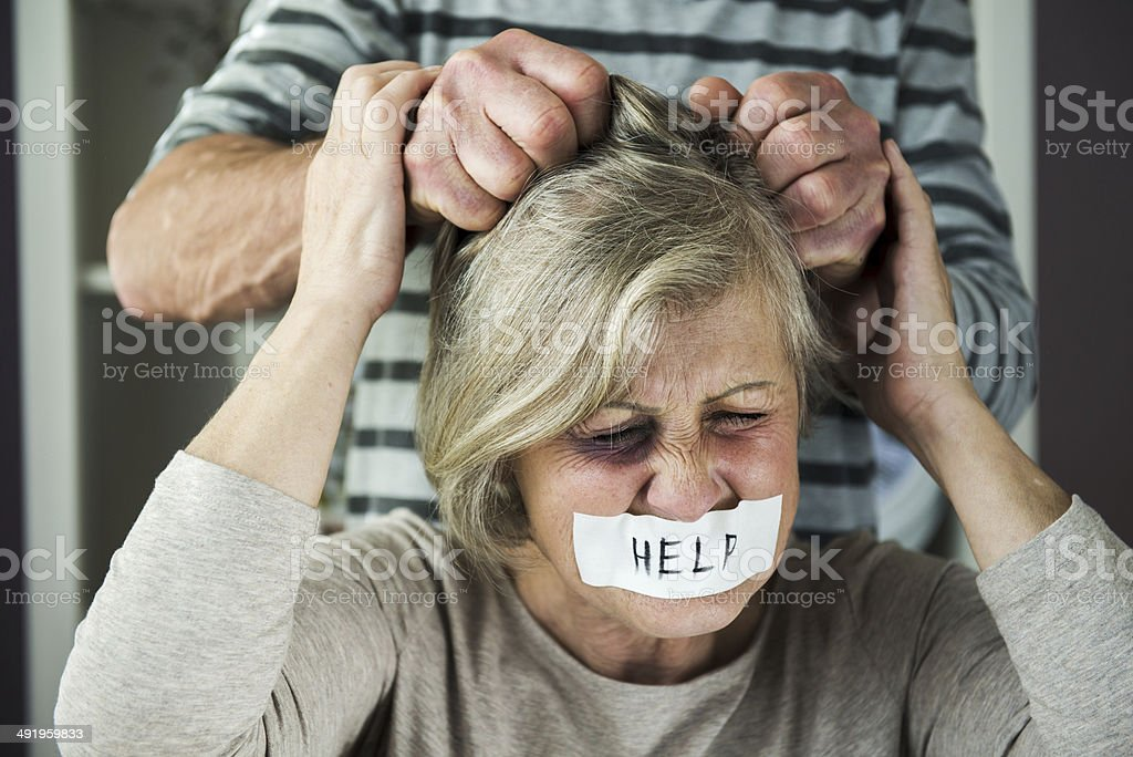 Domestic violance royalty-free stock photo