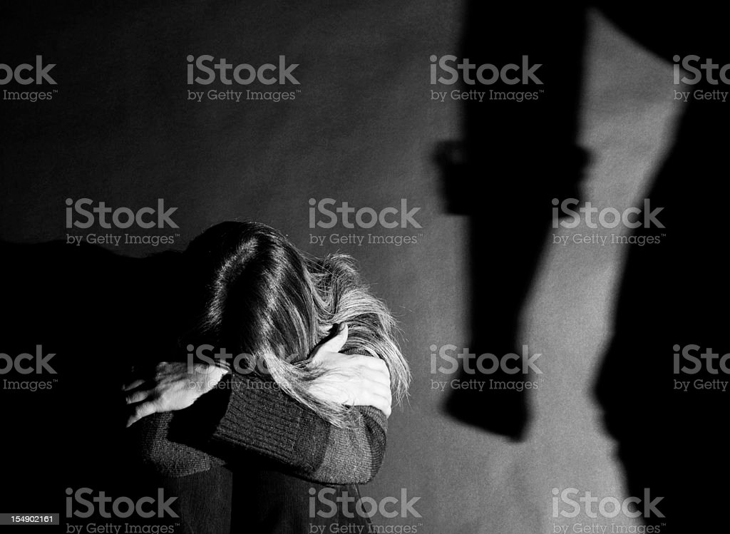 Domestic violence - Abuse stock photo