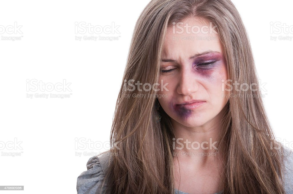 Domestic violence concept stock photo