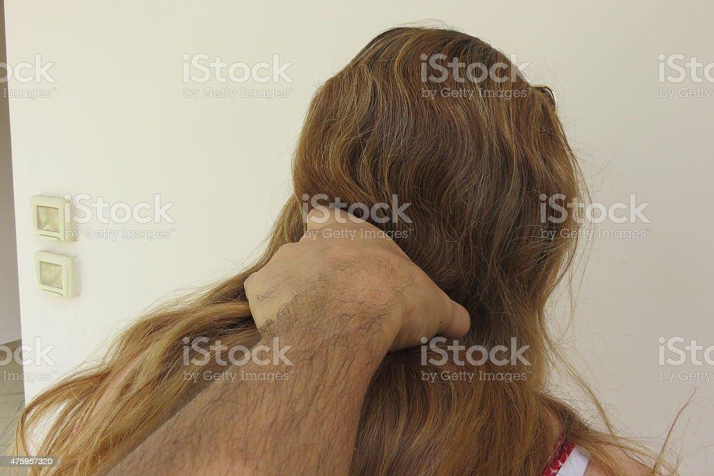 Domestic violence stock photo