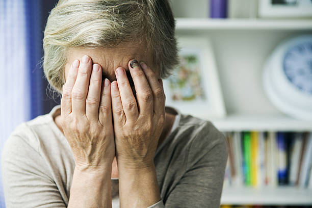 Domestic violence Senior woman with black eye is victim of domestic violence abuse stock pictures, royalty-free photos & images