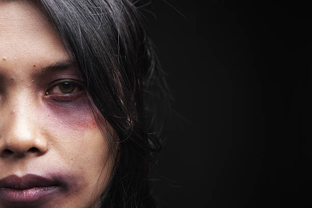 domestic violence victim - domestic violence stock pictures, royalty-free photos & images