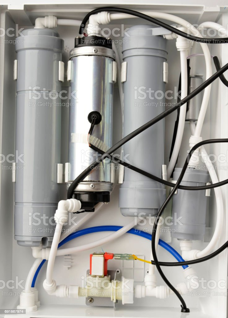 Domestic Water Purification Filters Shot in Studio stock photo