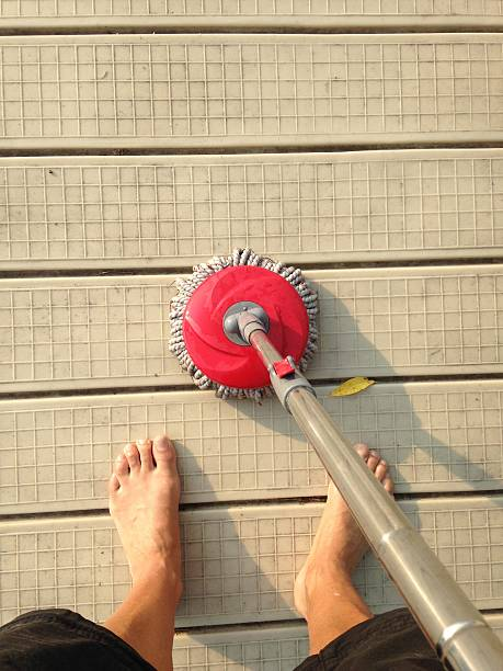 Domestic yard work stock photo