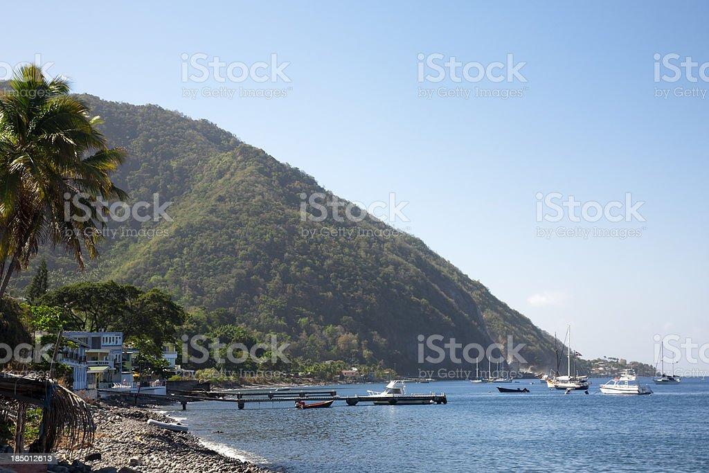 Dominica coast near Roseau stock photo