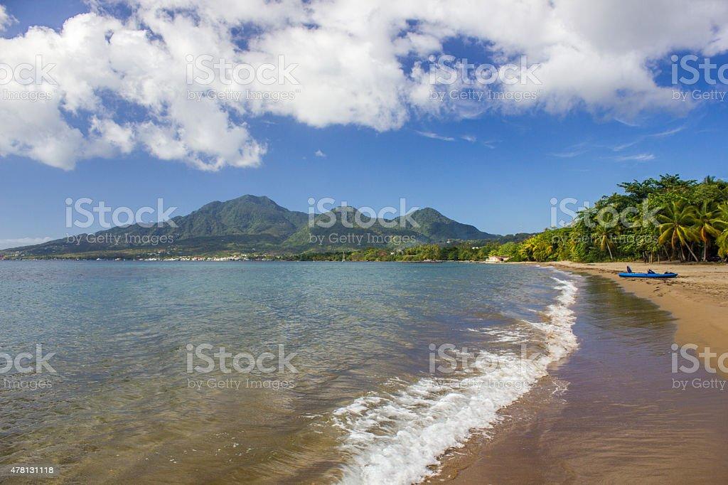 Dominica: Coconut Beach stock photo