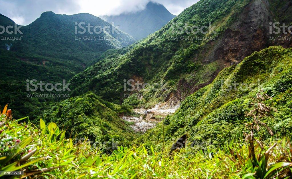 Dominica Mountain Top stock photo