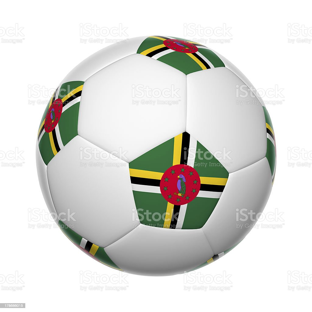 Dominica soccer ball stock photo