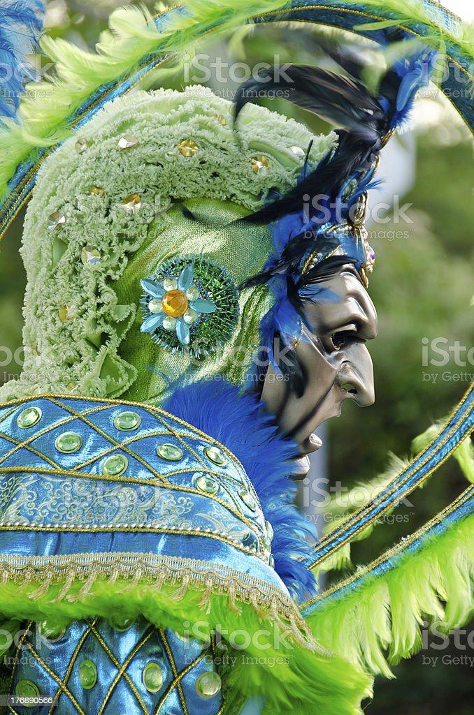 Dominican carnival mask stock photo