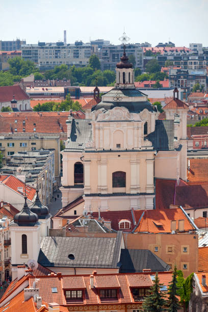 Dominican Church of the Holy Spirit in Vilnius stock photo