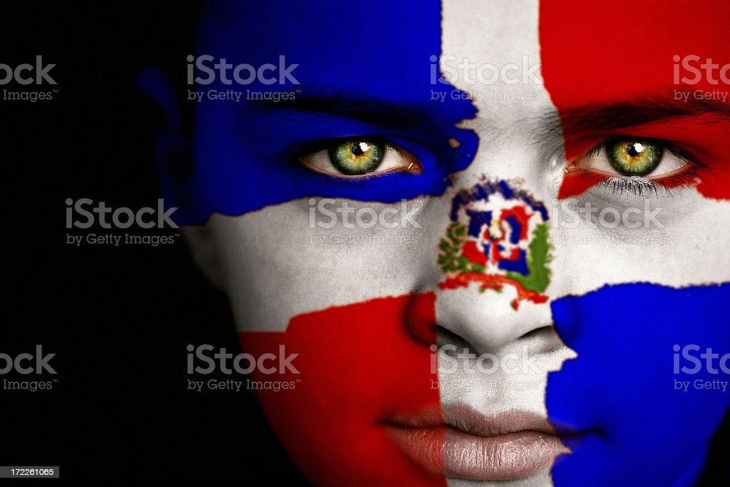 Dominican Republic boy stock photo