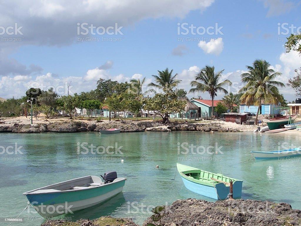 Dominican Republic coastal scenery stock photo