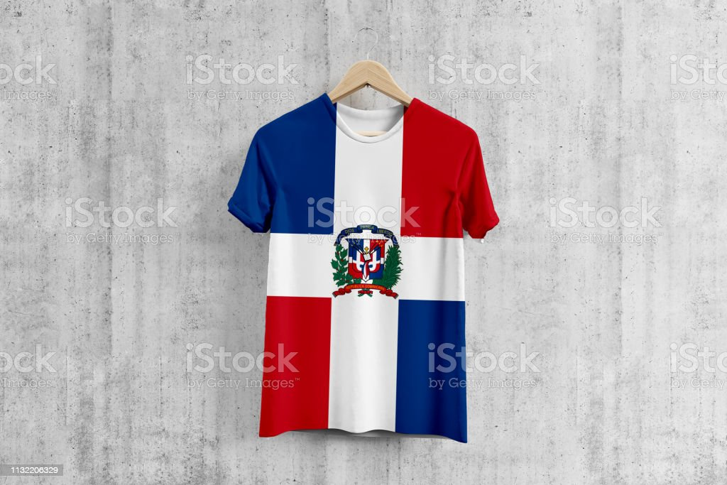 new arrival 00167 02c1d Dominican Republic Flag Tshirt On Hanger Dominican Team ...